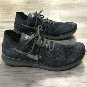 Nike Free RN Flyknit 2 Black Anthracite Mens 10.5
